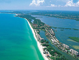 Siesta Keys Aerial View